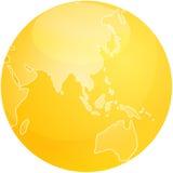 sphère de carte de l'Asie Photo stock