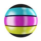 sphère de cmyk Photographie stock