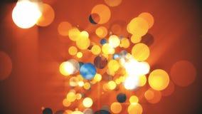 Sphère de fond orange Photo libre de droits