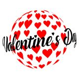 Sphère de jour du ` s de Valentine des coeurs Photographie stock