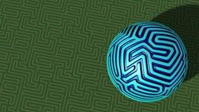 Sphère de labyrinthe sur l'avion de labyrinthe Photos libres de droits