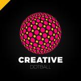 Sphère de logo avec le point Globe abstrait de boule de logotype de vecteur illustration stock