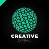 Sphère de logo avec le point Globe abstrait de boule de logotype de vecteur illustration libre de droits