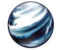 Sphère de marbre de bouton Photos libres de droits