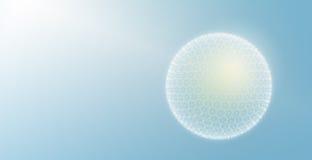 Sphère de particules photo stock