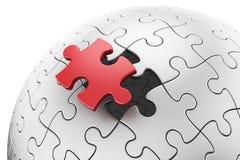 Sphère de puzzle Photographie stock