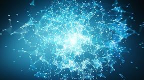 Sphère de système de connexions et rendu des échanges de données 3D Photos libres de droits