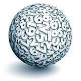 Sphère de vecteur des nombres illustration libre de droits