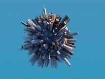 Sphère de ville Photos stock