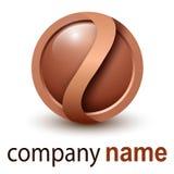 Sphère des affaires 3D de logo illustration stock