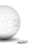 Sphère des puzzles et de l'élément en baisse Images stock