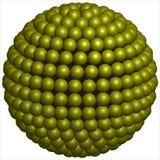 Sphère des sphères jaunes Photos stock