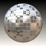 sphère du chrome 3d Images stock
