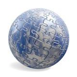 sphère du puzzle 3D avec la texture de ciel Images libres de droits
