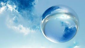 Sphère en cristal Photographie stock