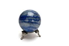 Sphère en cristal bleue Photos stock