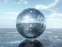 Sphère en verre Images stock