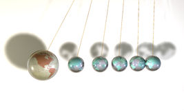 Sphère en verre illustration stock