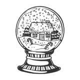Sphère en verre de Chambre gravant l'illustration de vecteur illustration libre de droits