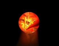 Sphère en verre rouge Photographie stock libre de droits