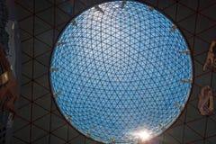Sphère en verre sur le musée de Dali à Figueres, Espagne Photos libres de droits