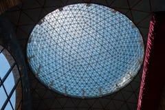 Sphère en verre sur le musée de Dali à Figueres, Espagne Image libre de droits