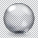Sphère en verre transparente avec des éraflures Images stock