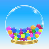 Sphère et bulles Images libres de droits