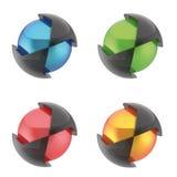Sphère et hexagone de logo illustration de vecteur