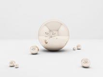 Sphère et intérieur Photo stock