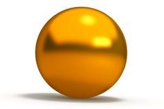 Sphère géométrique de formes d'or Images stock
