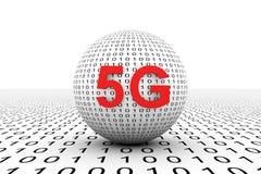 sphère 5G conceptuelle Image stock