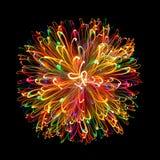 Sphère légère multicolore Photos libres de droits
