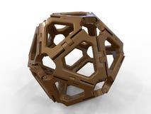 Sphère métallique d'abrégé sur charnière illustration stock