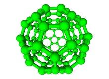 Sphère moléculaire verte sur le fond blanc Photographie stock libre de droits
