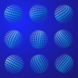 Sphère pointillée par globe abstrait de la terre Photographie stock libre de droits