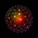Sphère reliée illustration de vecteur