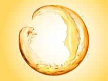 Sphère ronde faite en liquide d'écoulement illustration libre de droits