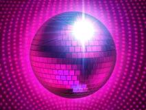 Sphère rosâtre de disco Image stock