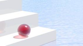 Sphère rouge Photos stock