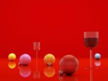 Sphère rouge Images libres de droits