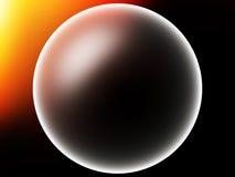 Sphère rougeoyante de planète avec le fond clair d'illustration de fuite Photographie stock