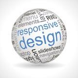 Sphère sensible de thème de conception avec des mots-clés illustration de vecteur