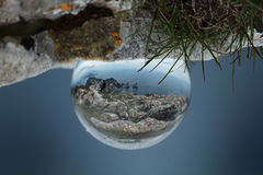 Sphère tirée de l'île de Capri de Monte Solaro Photos stock