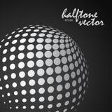 Sphère tramée abstraite dans la couleur blanche Photo stock