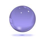 Sphère transparente en verre Images libres de droits