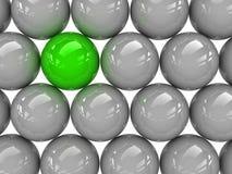 Sphère verte Photo libre de droits