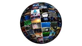Sphère visuelle (boucle de HD) Photos libres de droits
