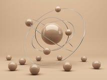Sphères 3d. Interaction. Fond abstrait Images libres de droits