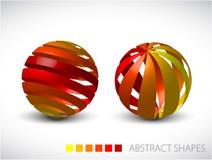 Sphères abstraites effectuées à partir des pistes colorées illustration de vecteur